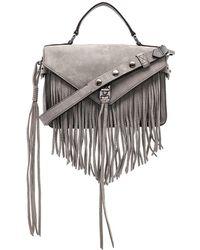 Rebecca Minkoff - Darren Fringe Messenger Bag In Grey. - Lyst