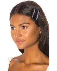 Amber Sceats Rachelle Hair Clip Set - Purple