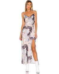 superdown Krystal Slit Maxi Dress - Grau