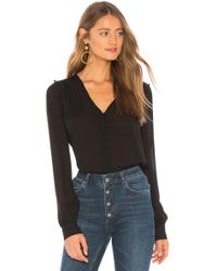 PAIGE - Aurinda Top In Black - Lyst
