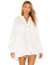 Free People - Anaheim Double Cloth Top - Lyst