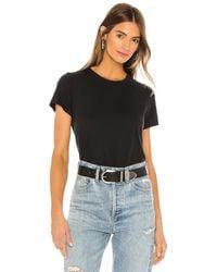 Agolde Linda Tシャツ - ブラック
