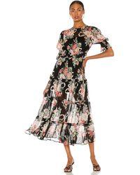 Alice McCALL Платье Миди Pretty Things В Цвете Черный