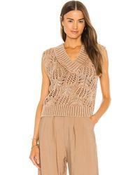 Free People Chaleco orchid - Marrón
