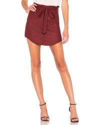 Line & Dot - Matilda Skirt In Burgundy - Lyst