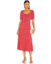 Diane von Furstenberg Платье Jade В Цвете Chickpea Dot Small - Красный