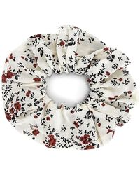 Ganni Printed Floral Scrunchie В Цвете Белая Цапля - Многоцветный