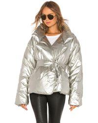 Norma Kamali Short Sleeping Bag Coat - Metallic
