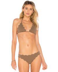 Marysia Swim - Broadway Top In Brown - Lyst
