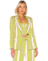 Alexis Edana Striped Satin Blazer - Yellow