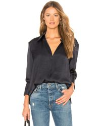Theory - Slit Collar Blouse - Lyst