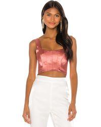 Nbd Lian Bustier Top - Pink