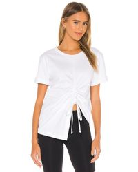Lovers + Friends Drawcord Oversized Tee - White