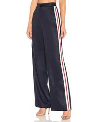 House of Harlow 1960 - X Revolve Wide Leg Track Pants In Navy - Lyst