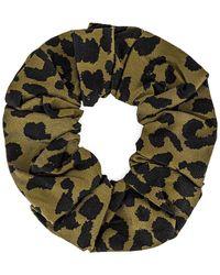 Ganni Leopard-Haargummi - Grün