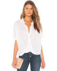 BCBGeneration Wrap Hem Dolman Sleeve Shirt - White