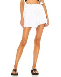 h:ours Santos Paperbag Shorts - White