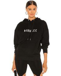 Dion Lee Crystal Logo Hoodie - Black