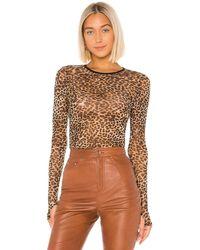 Enza Costa ロングスリーブtシャツ - ブラウン