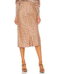 L'Agence Perin Bias Midi Skirt - Natural