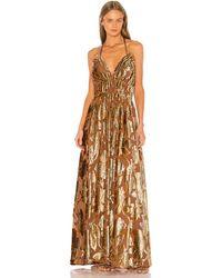 Ulla Johnson Платье Gia В Цвете Розовое Золото - Metallic Gold. Размер 0 (также В 2). - Металлик