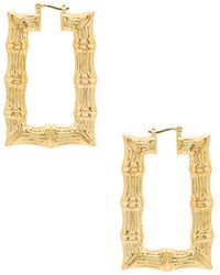Joolz by Martha Calvo - Square Bamboo Hoops In Metallic Gold. - Lyst