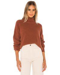 Velvet By Graham & Spencer Mindy Turtleneck Sweater - Brown