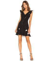 Aijek Verona Ruffled Dress - Black