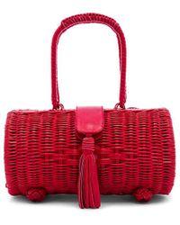 Cleobella Clarissa Wicker Bag - Rot