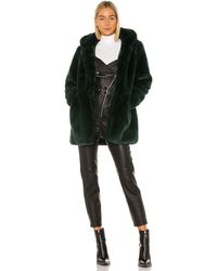 Apparis Marie Faux Fur Coat - Grün
