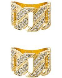 8 Other Reasons Набор Колец Diamond Studded Chain В Цвете Золотой - Металлик
