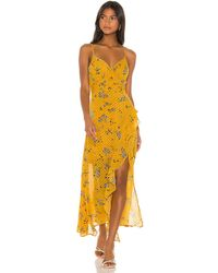 Astr Bette Dress - Yellow