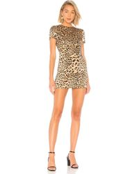 House of Harlow 1960 - X Revolve Delphine Dress In Brown - Lyst