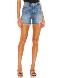 PAIGE Dani High Waisted Short. Size 26. - Blau