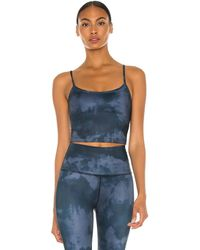 Beyond Yoga Scooped Out Cropped Tank - Blau