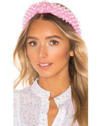 Lele Sadoughi X REVOLVE Woven Bead Headband - Pink