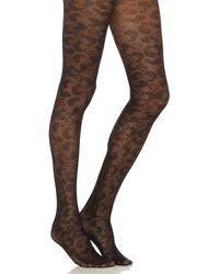 Ganni Lace Stockings - Schwarz