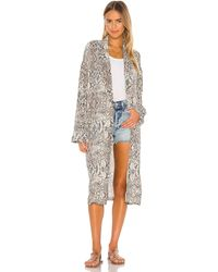 Free People Guardapolvo wild nights - Gris