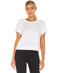 Beyond Yoga Solid choice short sleeve pullover top - Blanco