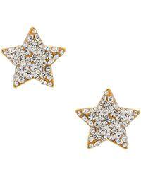 Lele Sadoughi Jeweled Star Button イヤリング - メタリック