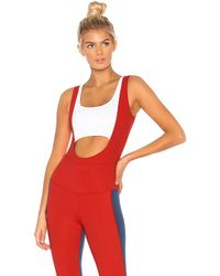 Year Of Ours - Two Tone Body Suit In Red - Lyst