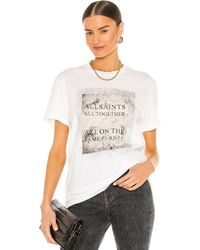 AllSaints Camiseta boyfriend - Blanco