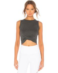Alo Yoga - Cover Tank In Grey - Lyst