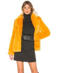 Lovers + Friends - Francesca Coat In Mustard - Lyst