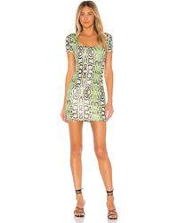 superdown - Мини Платье Keirnan В Цвете Lime Green Snake - Green. Размер S (также В Xs,xxs). - Lyst