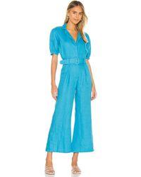 Faithfull The Brand Frederikke Boilersuit - Blue