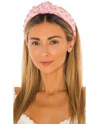 Lele Sadoughi Woven Studded Knotted Headband - Pink