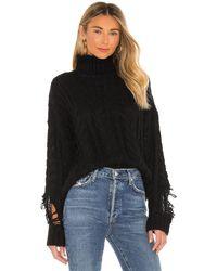 superdown Corin ディストレストセーター - ブラック