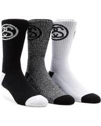 Stussy - 3-pack Ss Link Premium Socks - Lyst