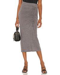 Song of Style Rayna Midi Skirt - Grey